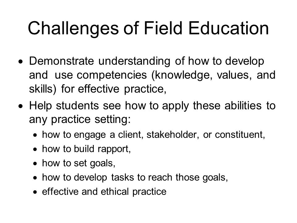 Challenges of Field Education