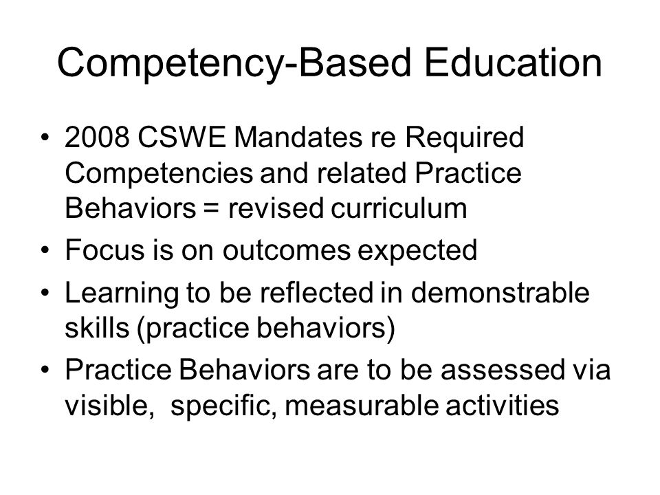 Competency-Based Education