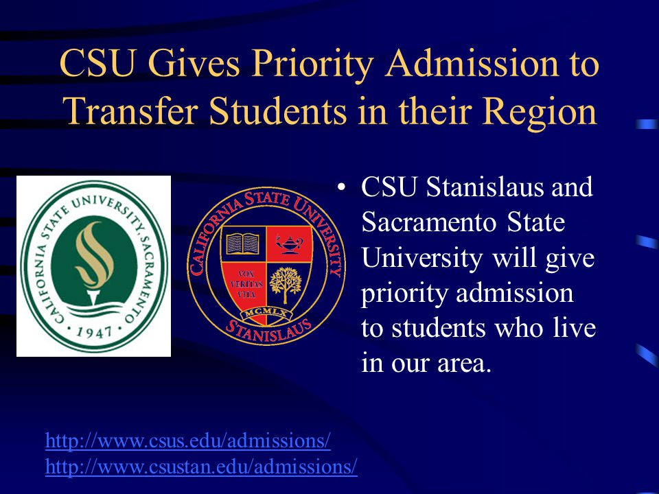 CSU Gives Priority Admission to Transfer Students in their Region