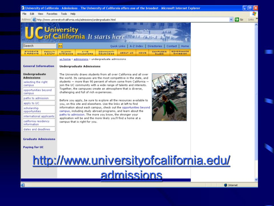http://www.universityofcalifornia.edu/admissions
