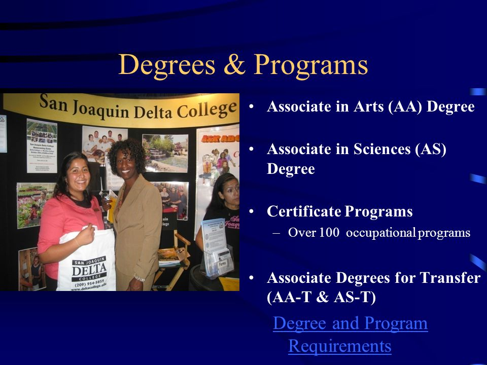 Degrees & Programs Degree and Program Requirements