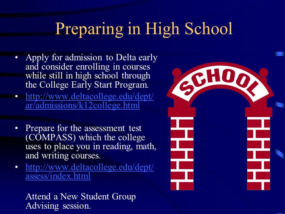 Preparing in High School
