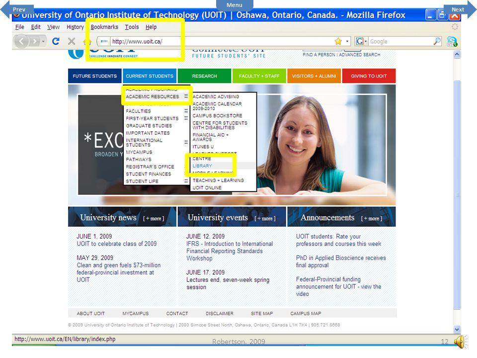 The website for UOIT is http://www.uoit.ca