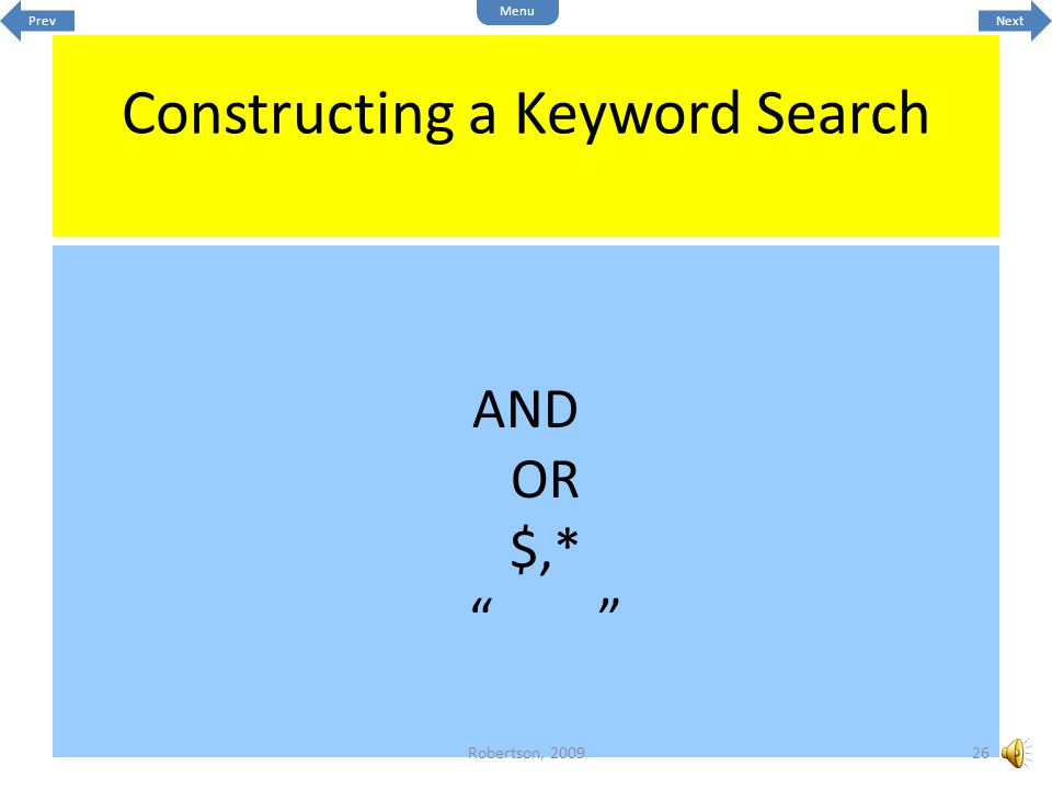 Constructing a Keyword Search