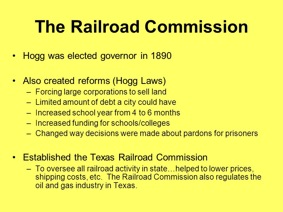 The Railroad Commission