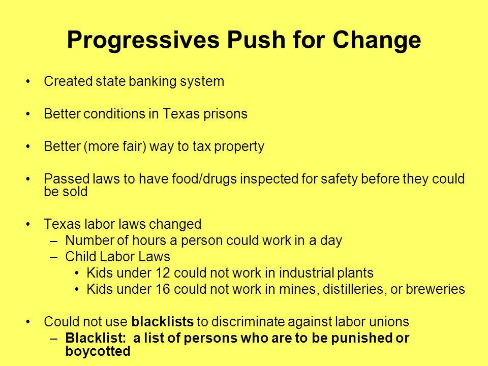 Progressives Push for Change