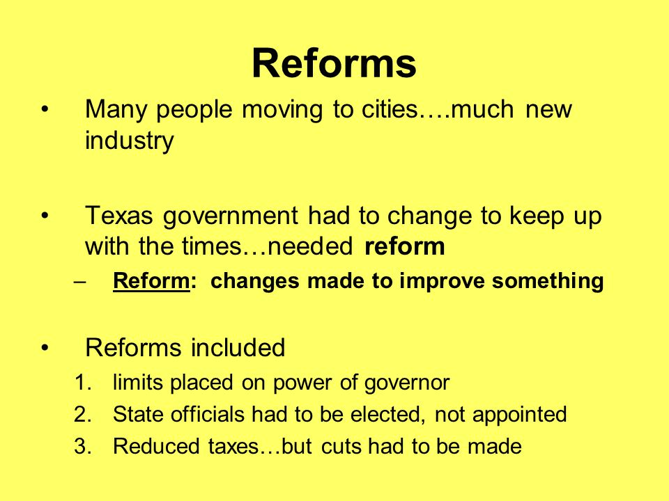 Reforms Many people moving to cities….much new industry