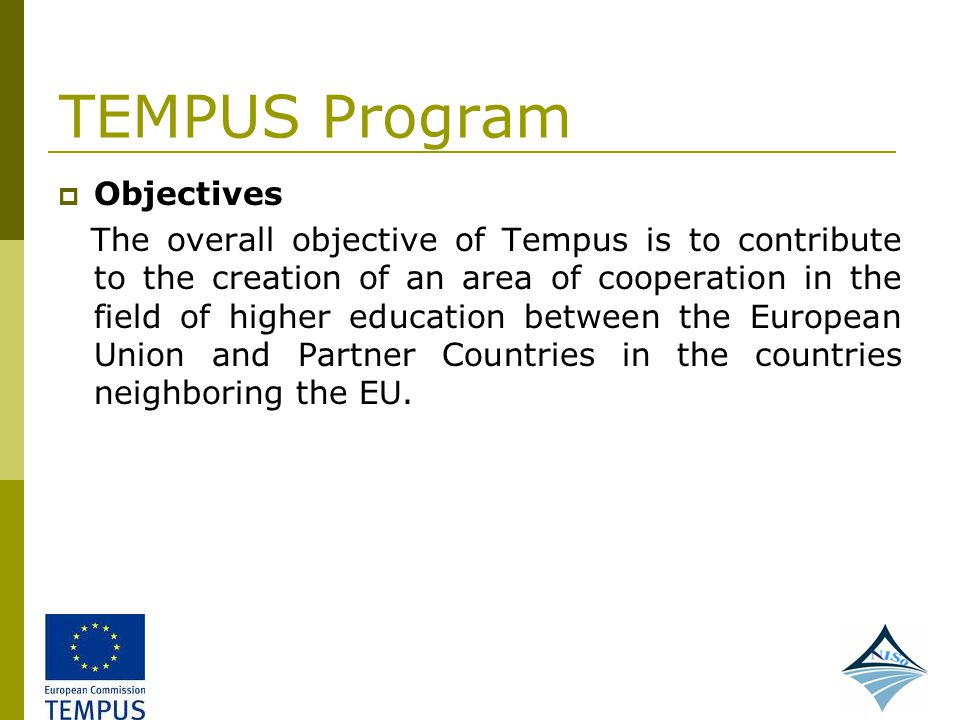 TEMPUS Program Objectives