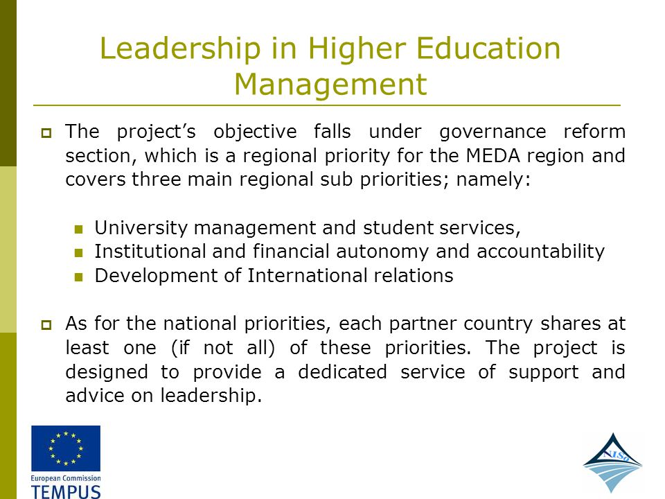 Leadership in Higher Education Management