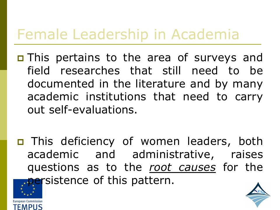 Female Leadership in Academia