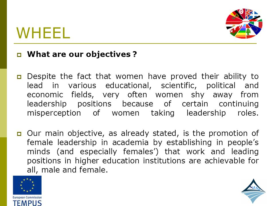WHEEL What are our objectives