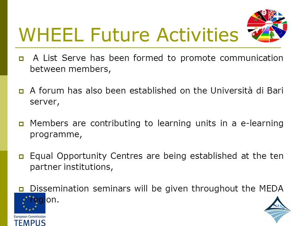 WHEEL Future Activities