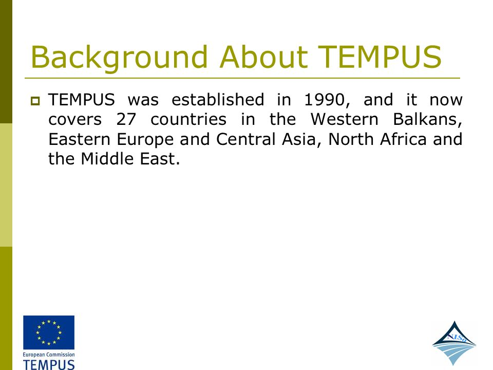 Background About TEMPUS