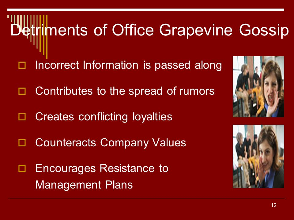 Detriments of Office Grapevine Gossip