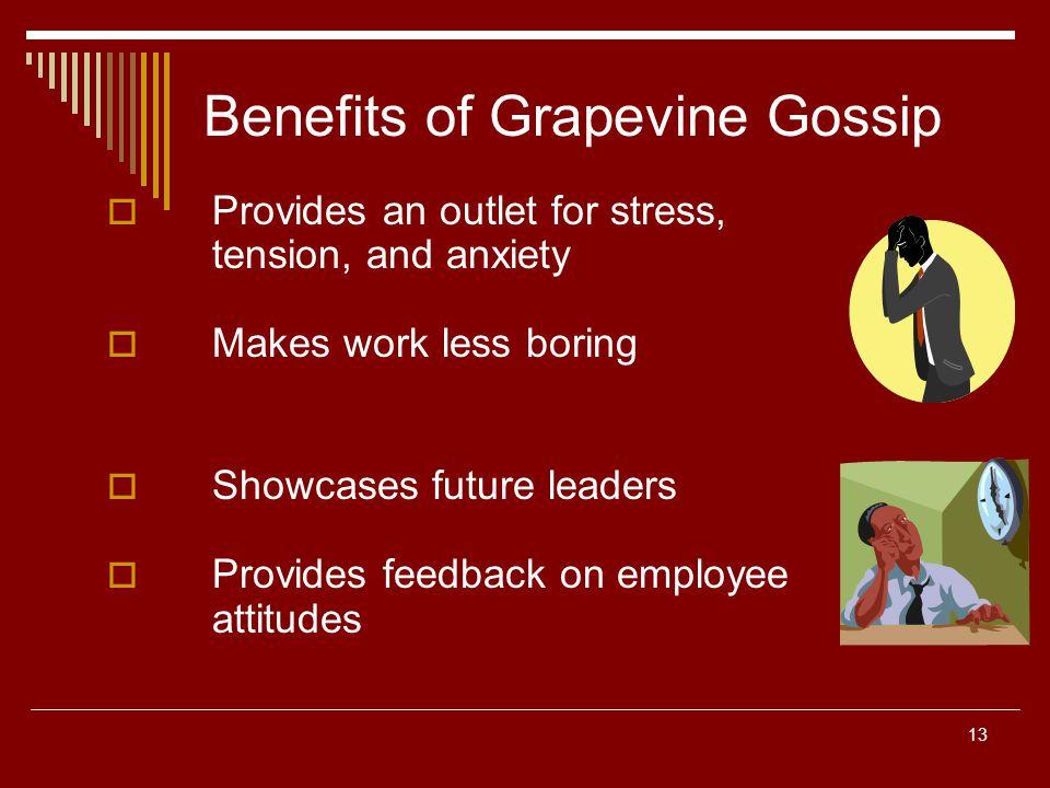 Benefits of Grapevine Gossip