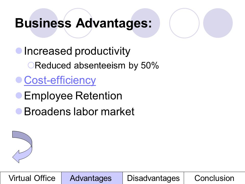 Business Advantages: Increased productivity Cost-efficiency