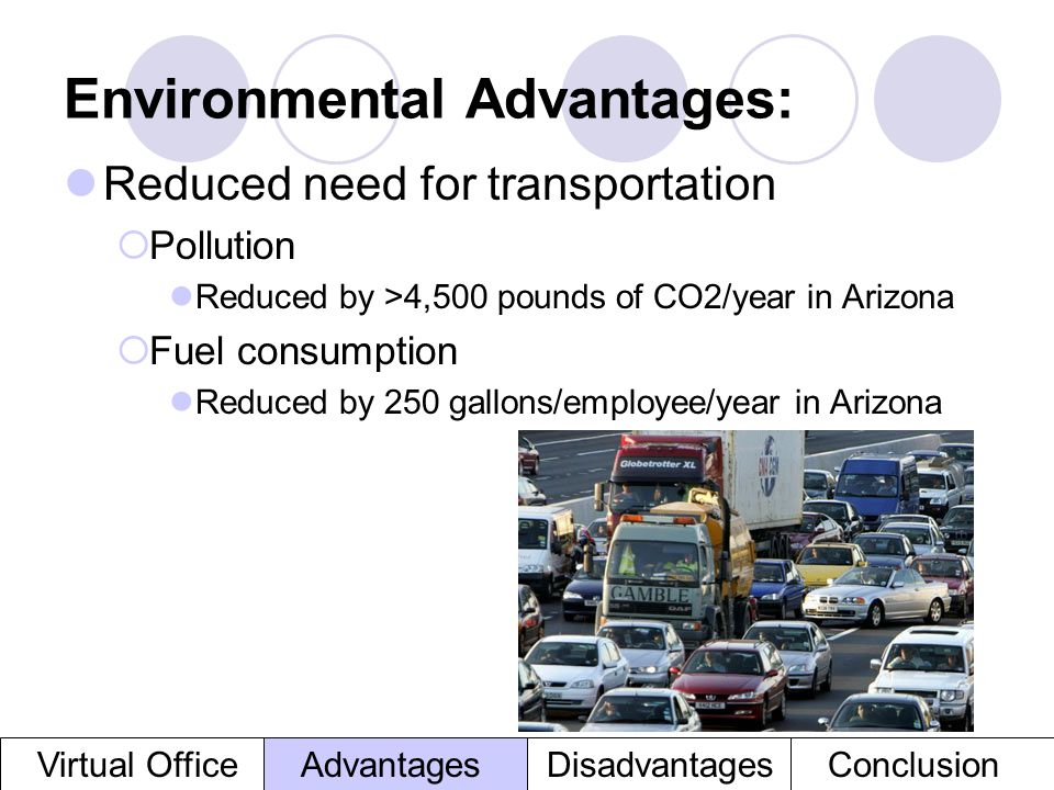 Environmental Advantages: