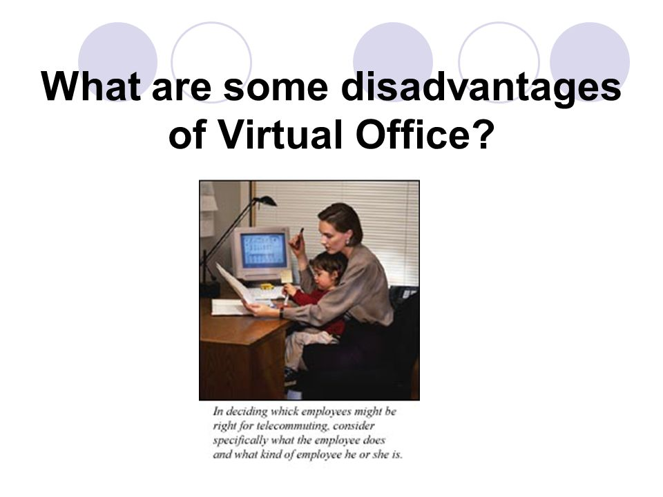 What are some disadvantages of Virtual Office