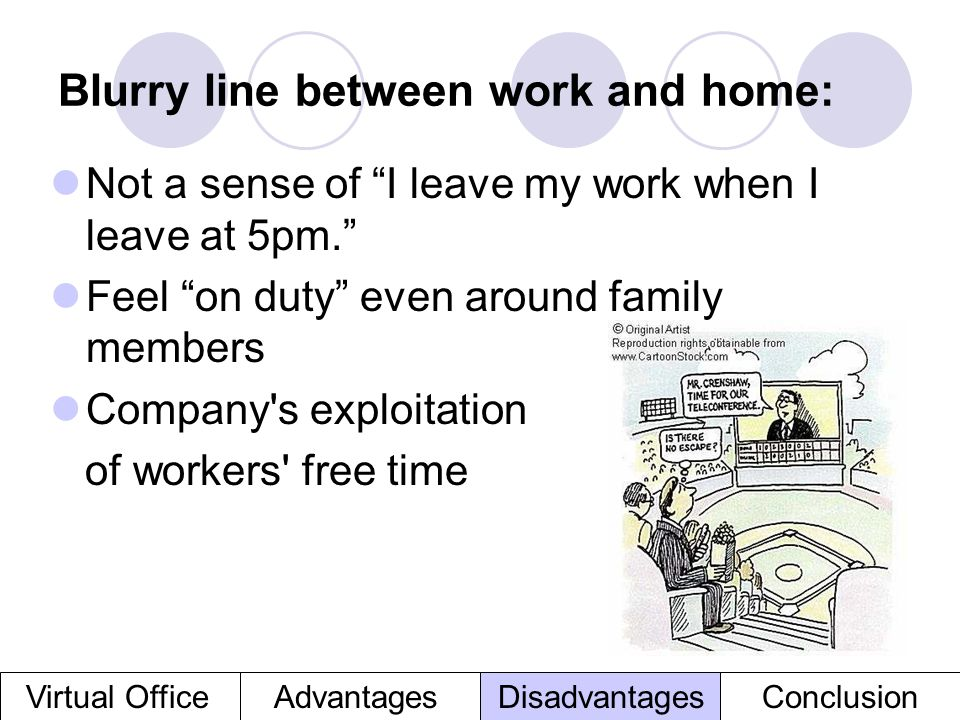Blurry line between work and home: