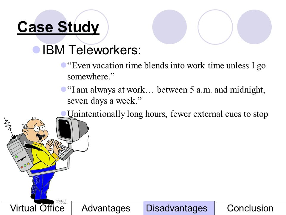 Case Study IBM Teleworkers: Virtual Office Advantages Disadvantages