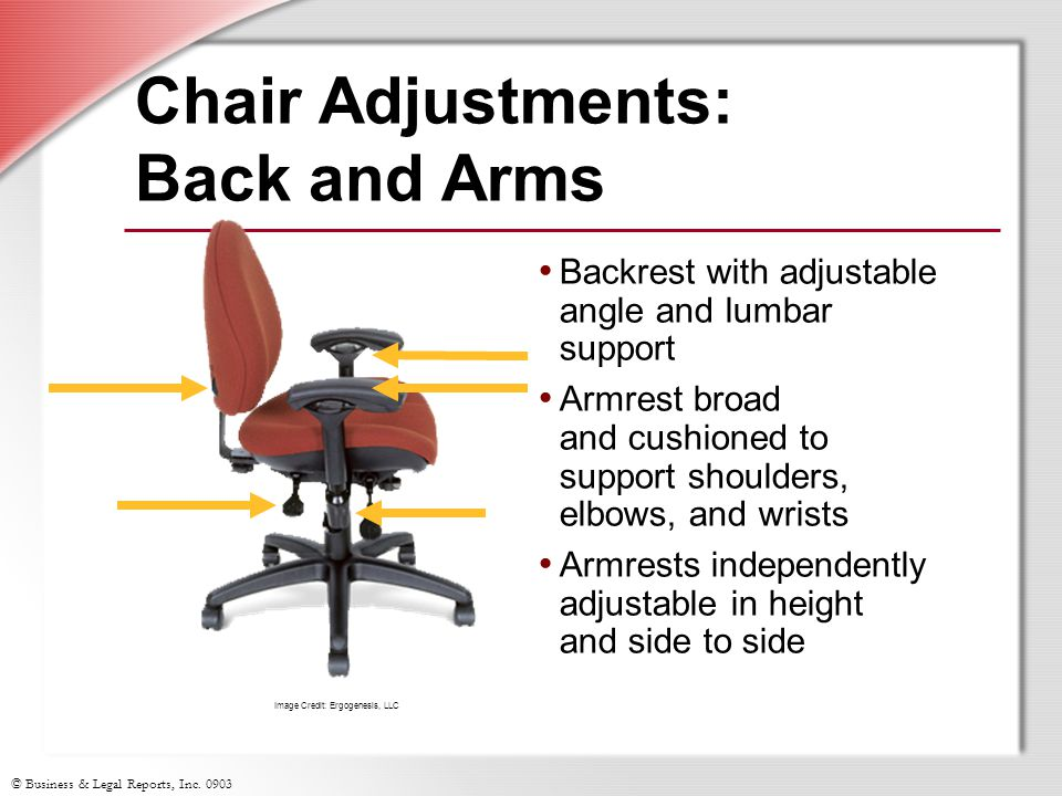 Chair Adjustments: Back and Arms