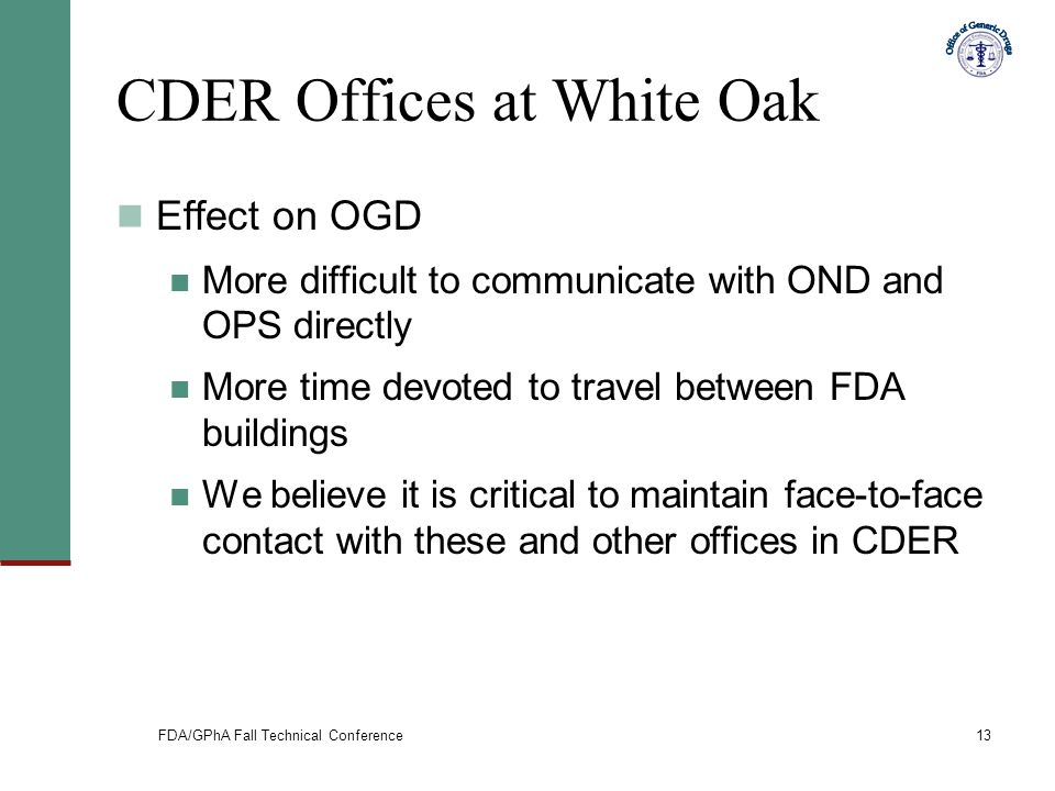 CDER Offices at White Oak