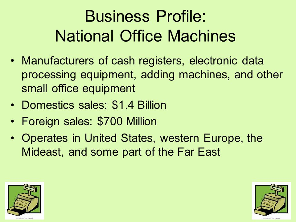 Business Profile: National Office Machines