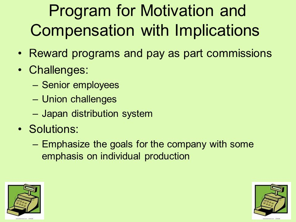 Program for Motivation and Compensation with Implications