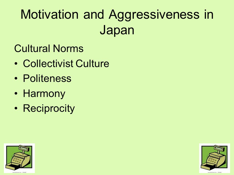 Motivation and Aggressiveness in Japan
