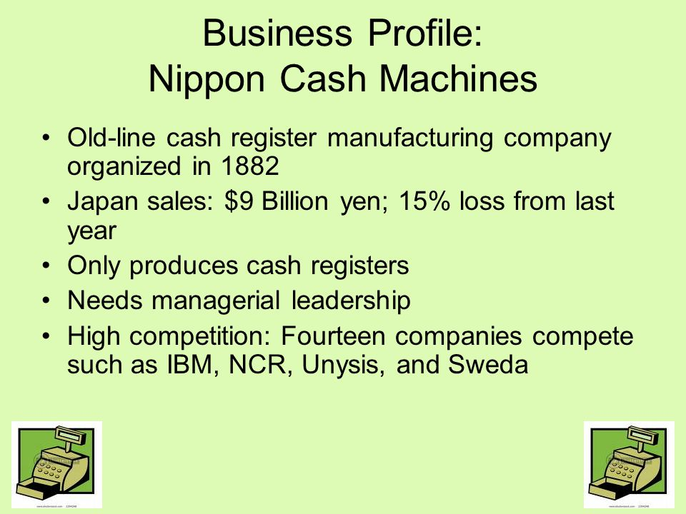 Business Profile: Nippon Cash Machines