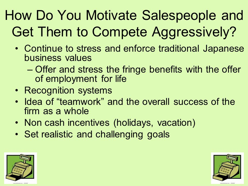 How Do You Motivate Salespeople and Get Them to Compete Aggressively
