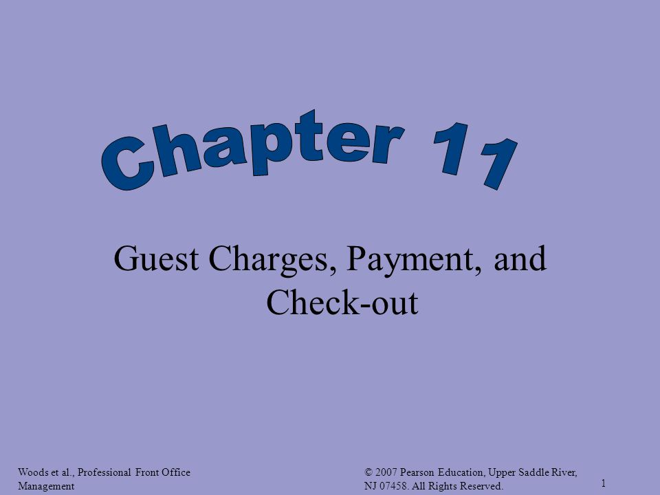 Guest Charges, Payment, and Check-out