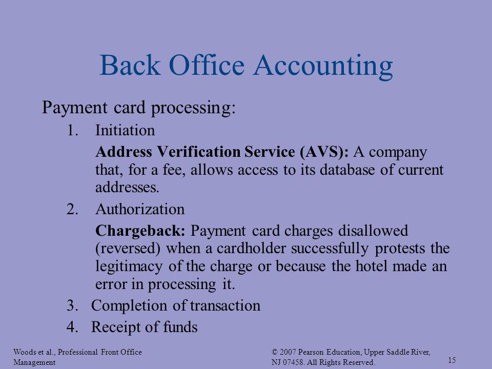 Back Office Accounting