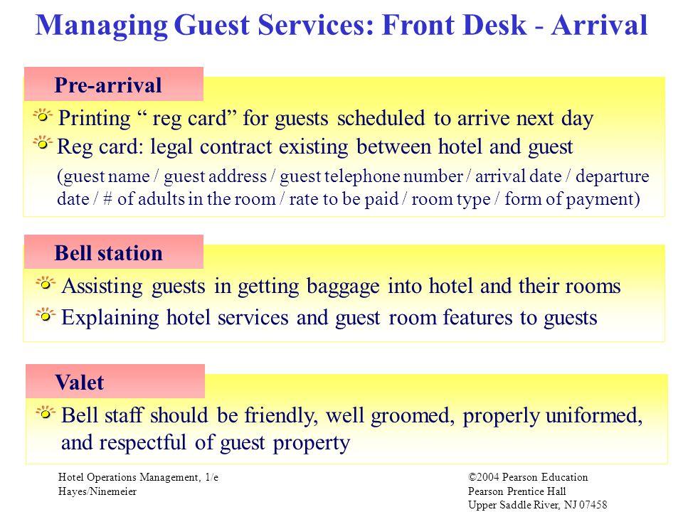 Managing Guest Services: Front Desk - Arrival