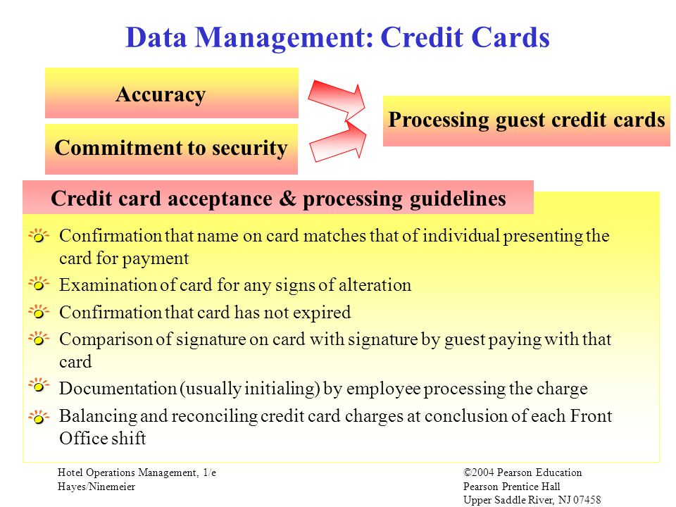 Data Management: Credit Cards
