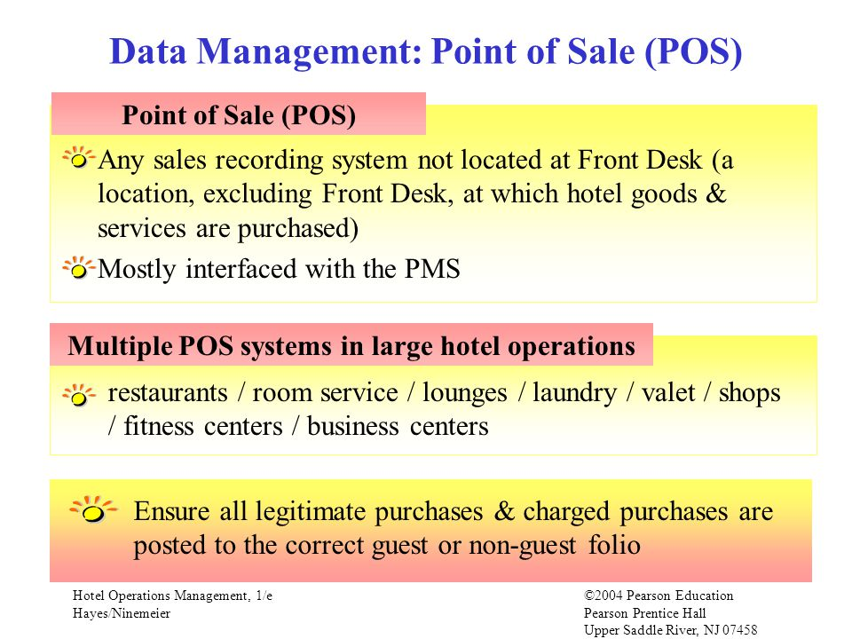 Data Management: Point of Sale (POS)