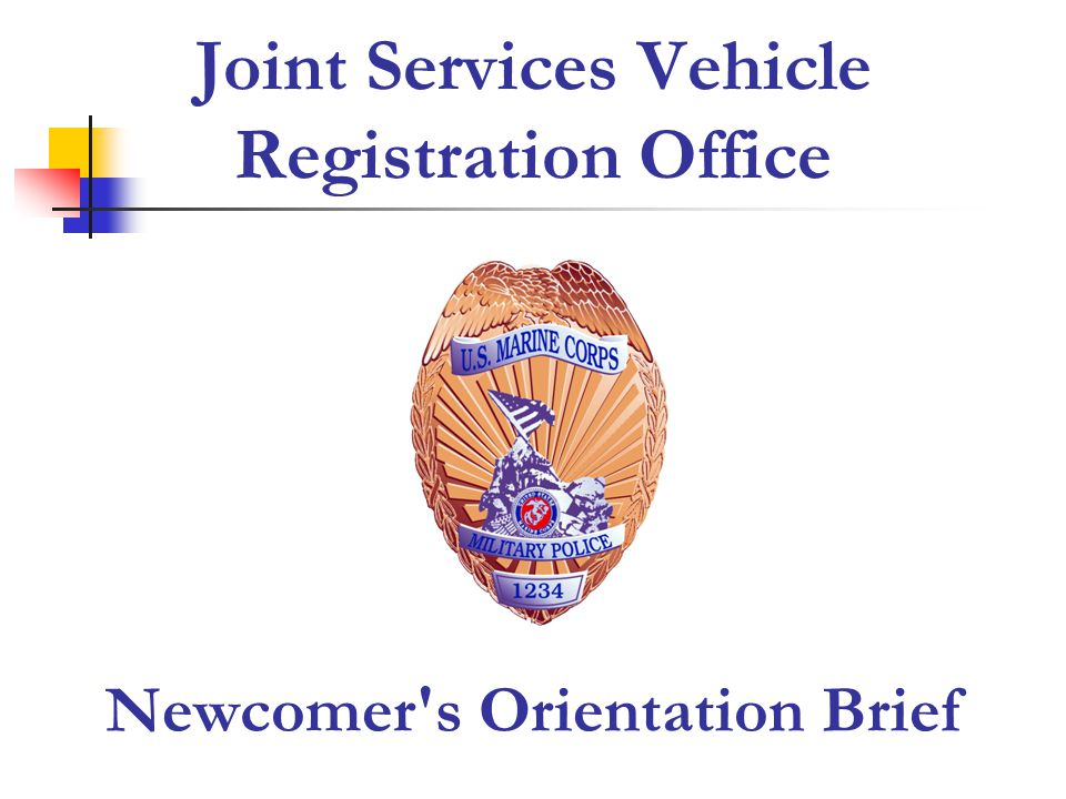 Joint Services Vehicle Registration Office