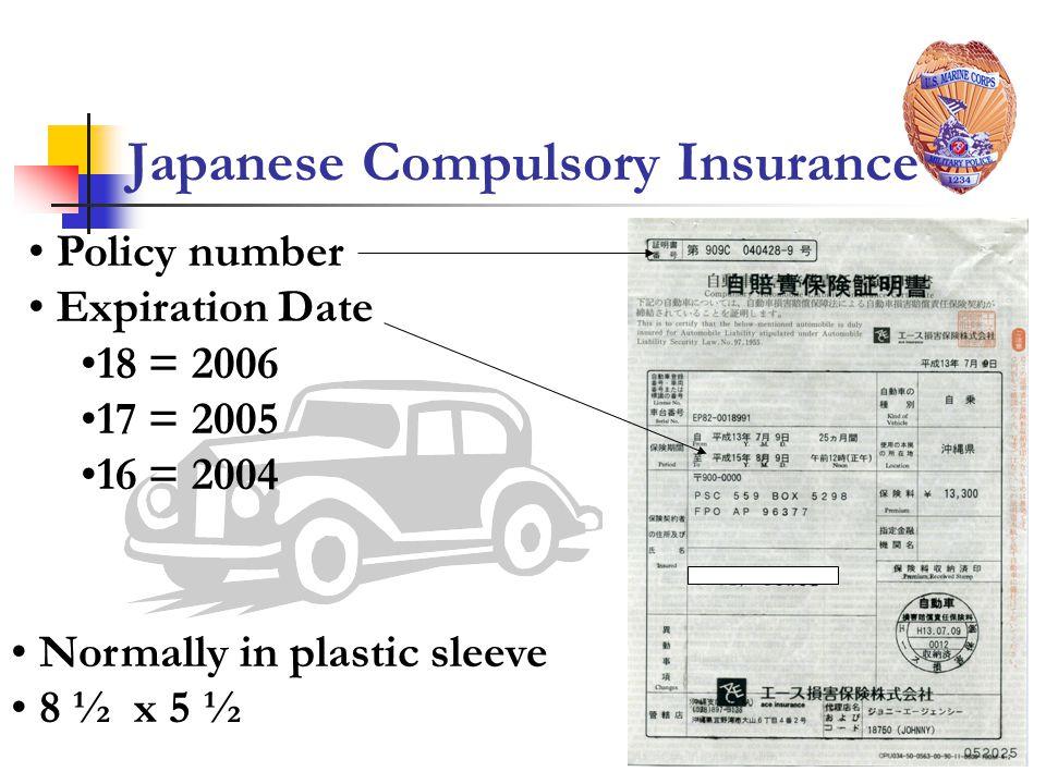 Japanese Compulsory Insurance