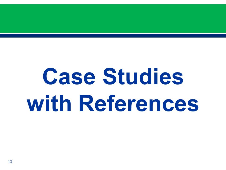Case Studies with References