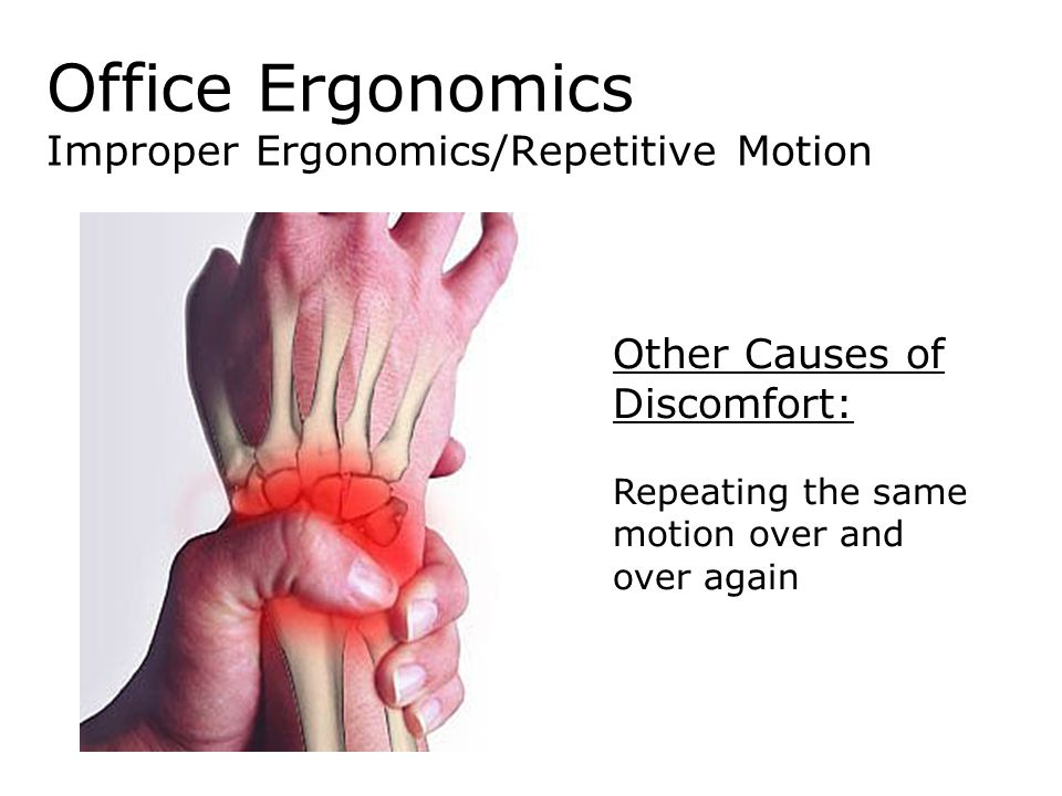 Office Ergonomics Improper Ergonomics/Repetitive Motion
