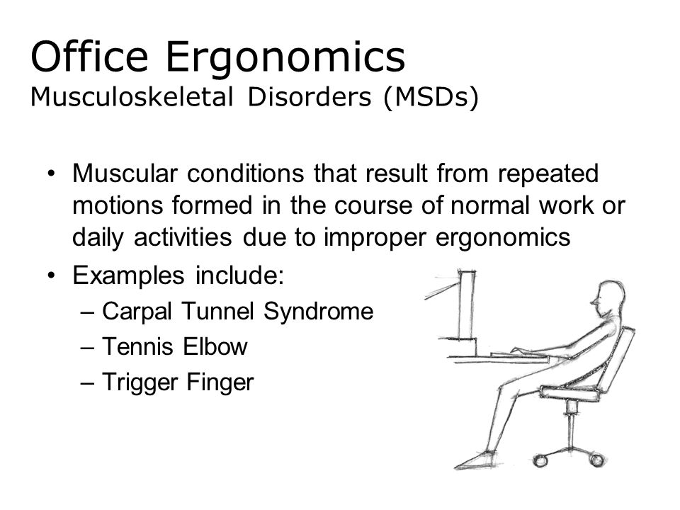 Office Ergonomics Musculoskeletal Disorders (MSDs)
