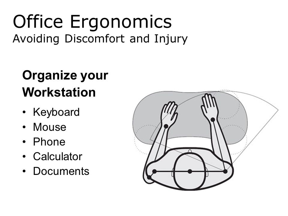Office Ergonomics Organize your Workstation