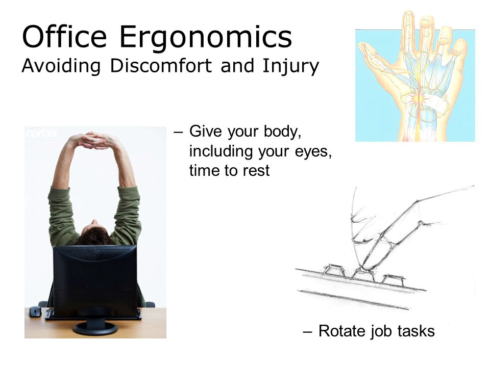 Office Ergonomics Avoiding Discomfort and Injury