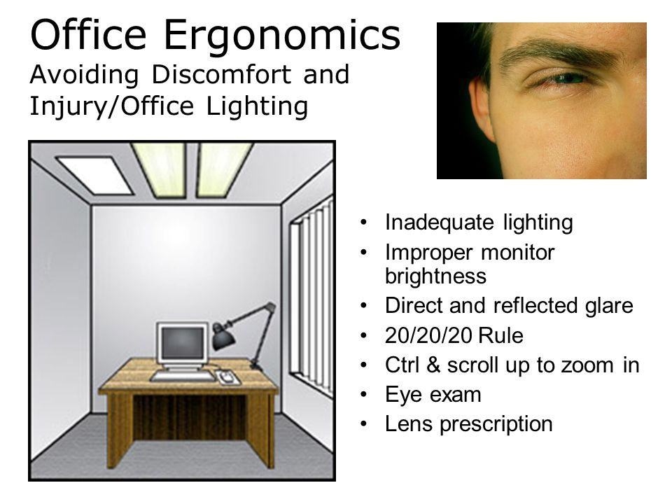 Office Ergonomics Avoiding Discomfort and Injury/Office Lighting