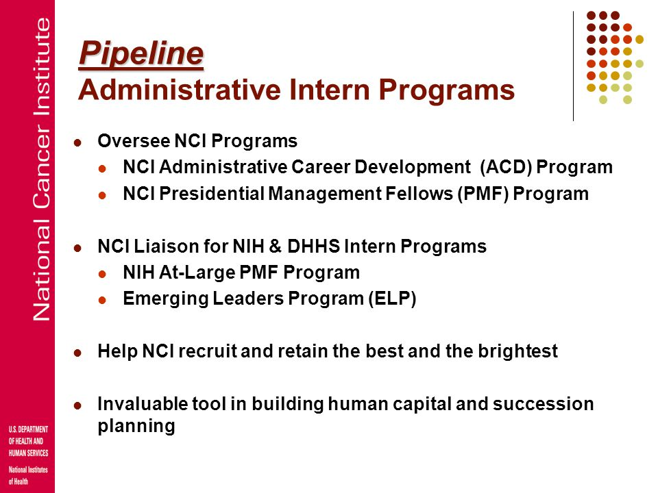 Pipeline Administrative Intern Programs