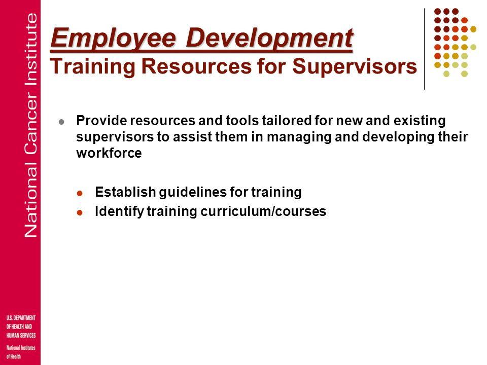 Employee Development Training Resources for Supervisors