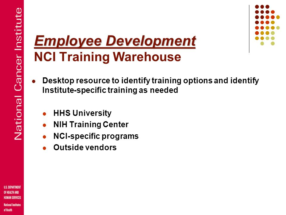 Employee Development NCI Training Warehouse