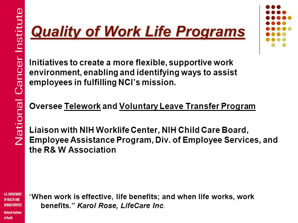 Quality of Work Life Programs