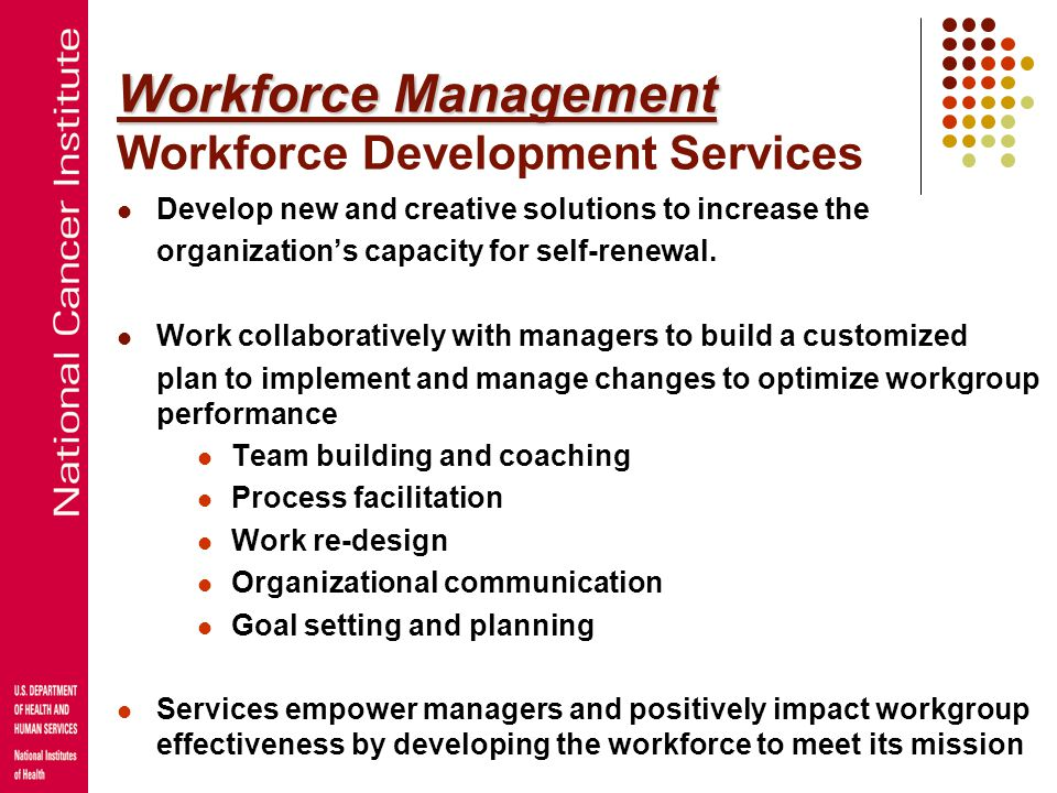 Workforce Management Workforce Development Services