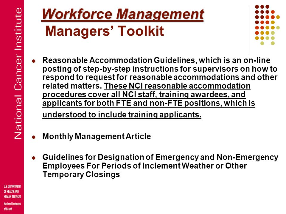 Workforce Management Managers' Toolkit
